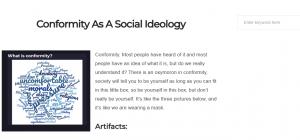 Ideology Project - Conformity - Hannah Queen, Kenya McGee, Marisala Barajas, Jacob Hill - ENGL 4240 - SP18